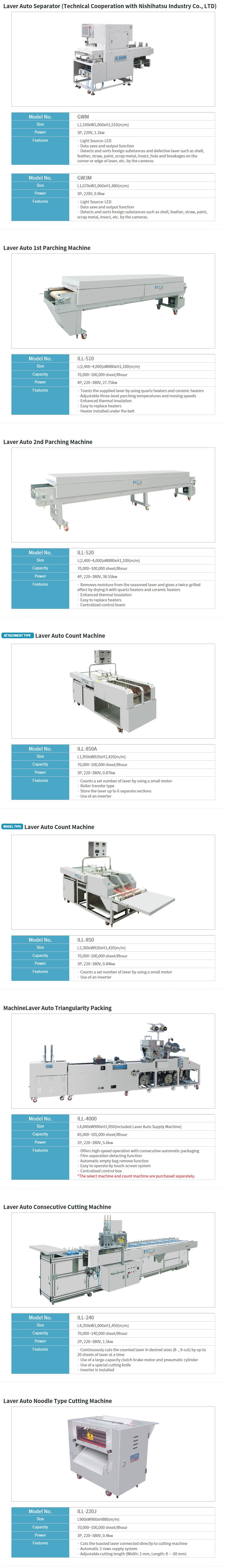 IL-SHIN MACHINE Other Machines