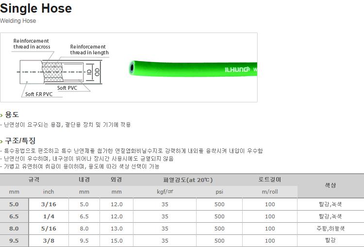 (주)일흥 Welding Hose  2