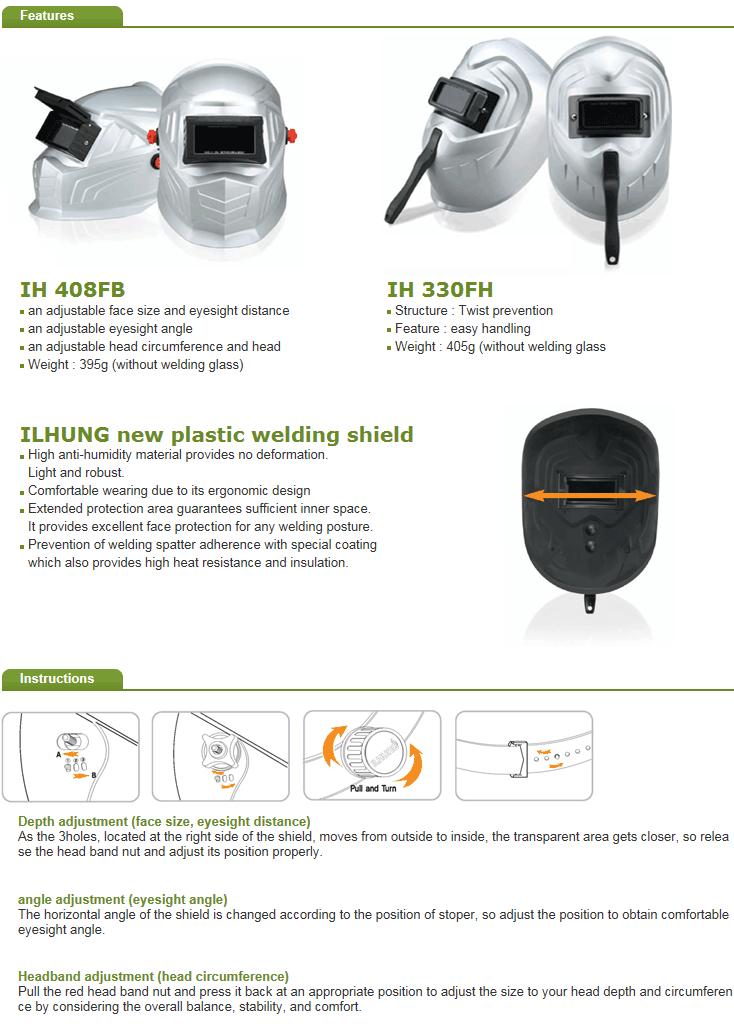 ILHUNG Plastic Welding Shield