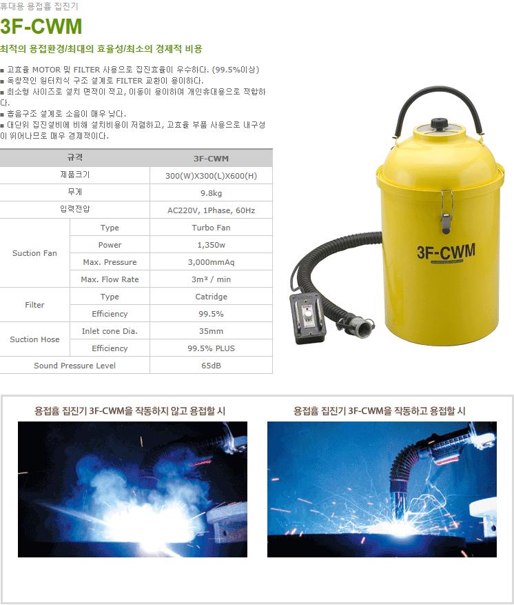 (주)일흥 휴대용 용접흄 집진기 3F-CWM 1