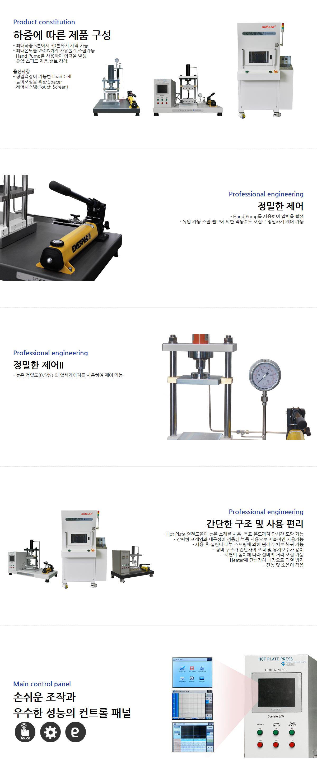 일신오토클레이브 유압 프레스 (Hot Press) HP-Series