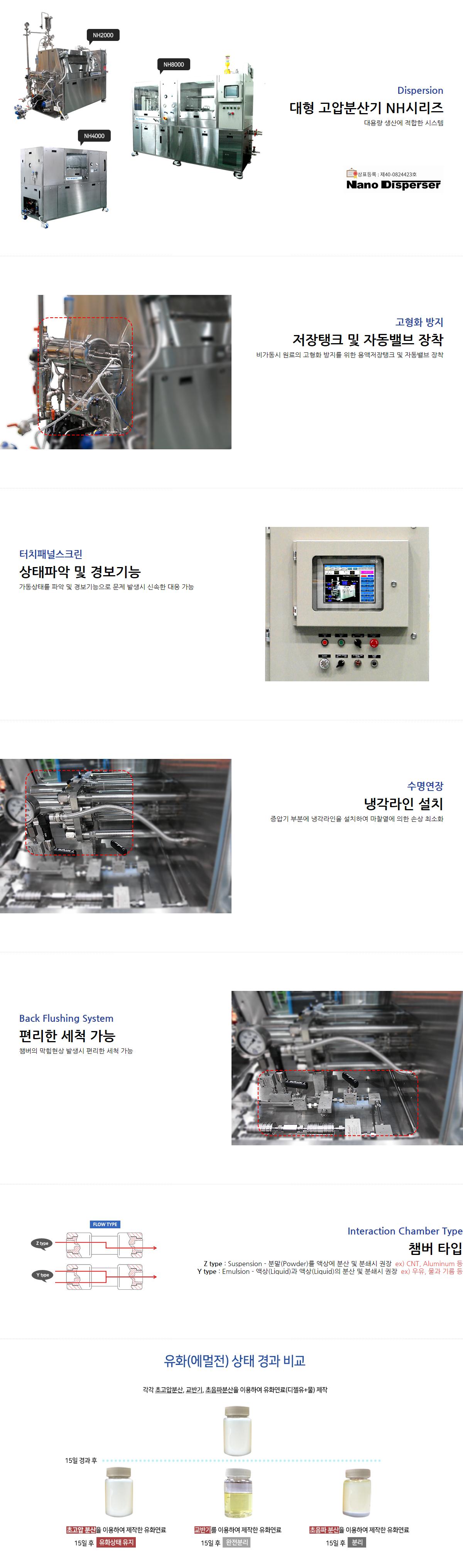 일신오토클레이브 대형 고압 분산기 (나노디스퍼져) NH-Series