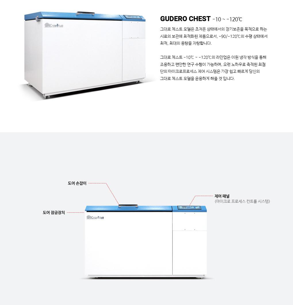 (주)일산바이오베이스 초저온냉동고 GUDERO Chest Series 1