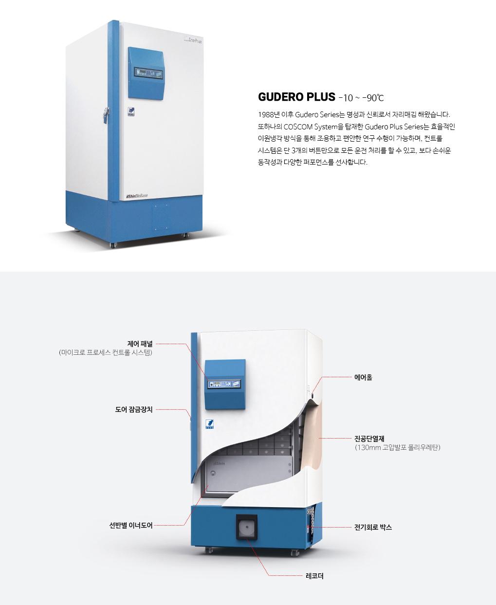 (주)일산바이오베이스 초저온냉동고 GUDERO PLUS 2