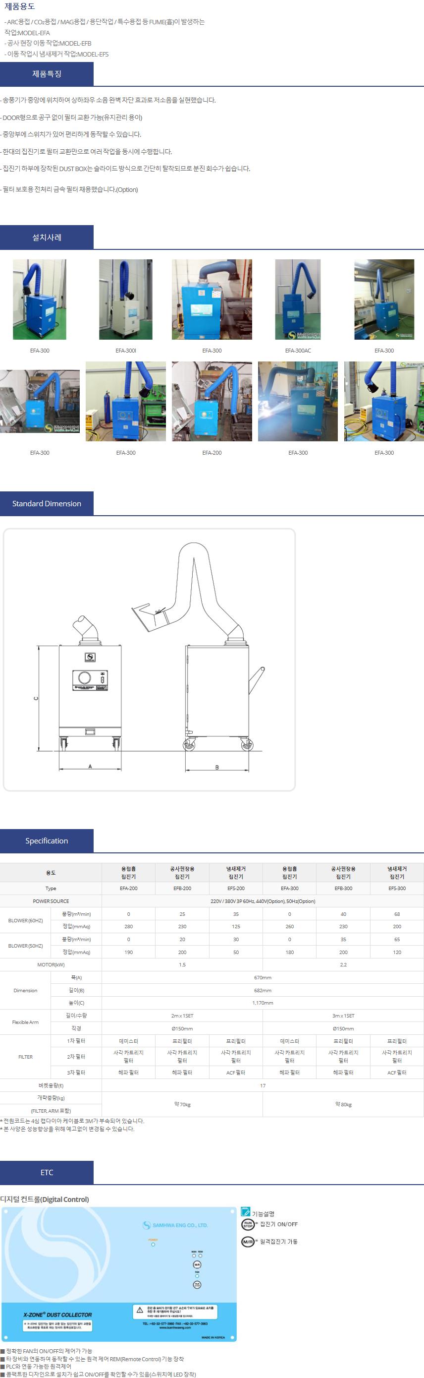 (주)삼화이엔지 용접 흄 집진기 EF Series 1