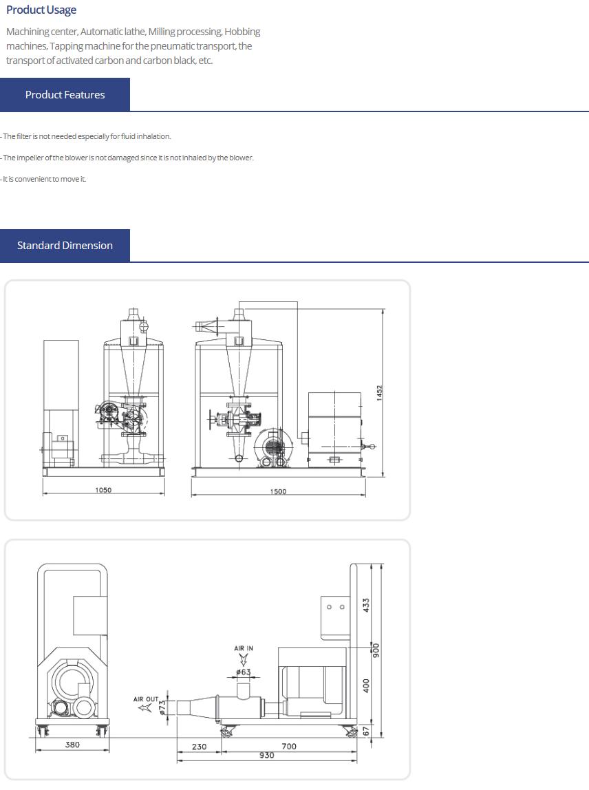 SAMHWA ENG Pneumatic Conveying System EV Series