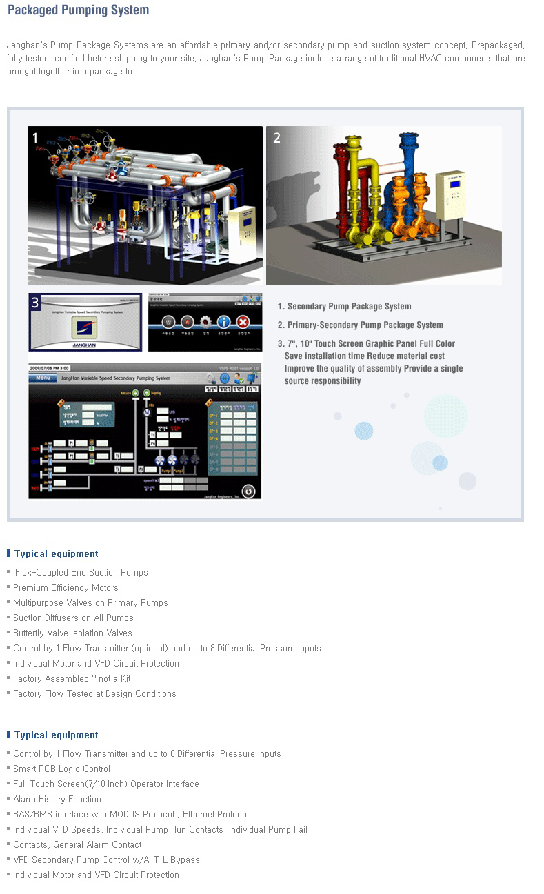 JANGHAN ENG Packaged Pumping System