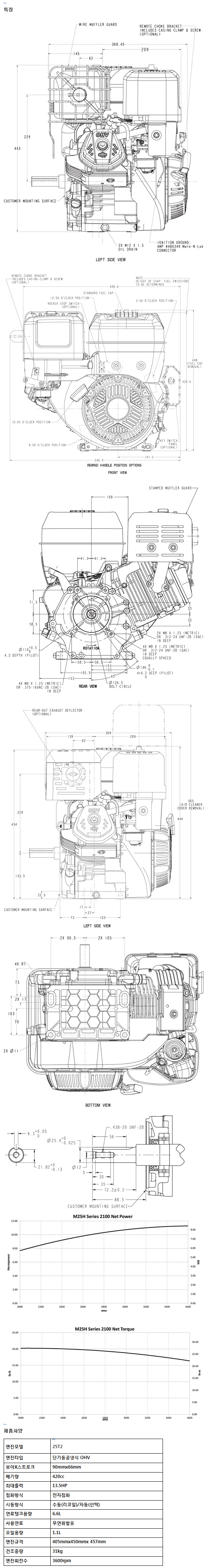 전일기계공업(주) 엔진 intech13.5HP 1