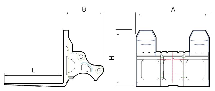 JK TECHNOLOGY Lifting Fork JKLF Series