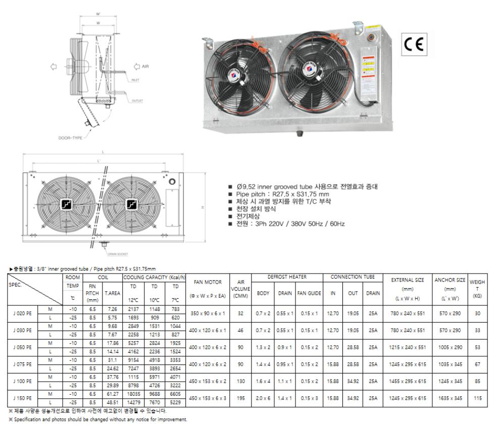 (주)중원냉열 Unit Cooler J-Type 1