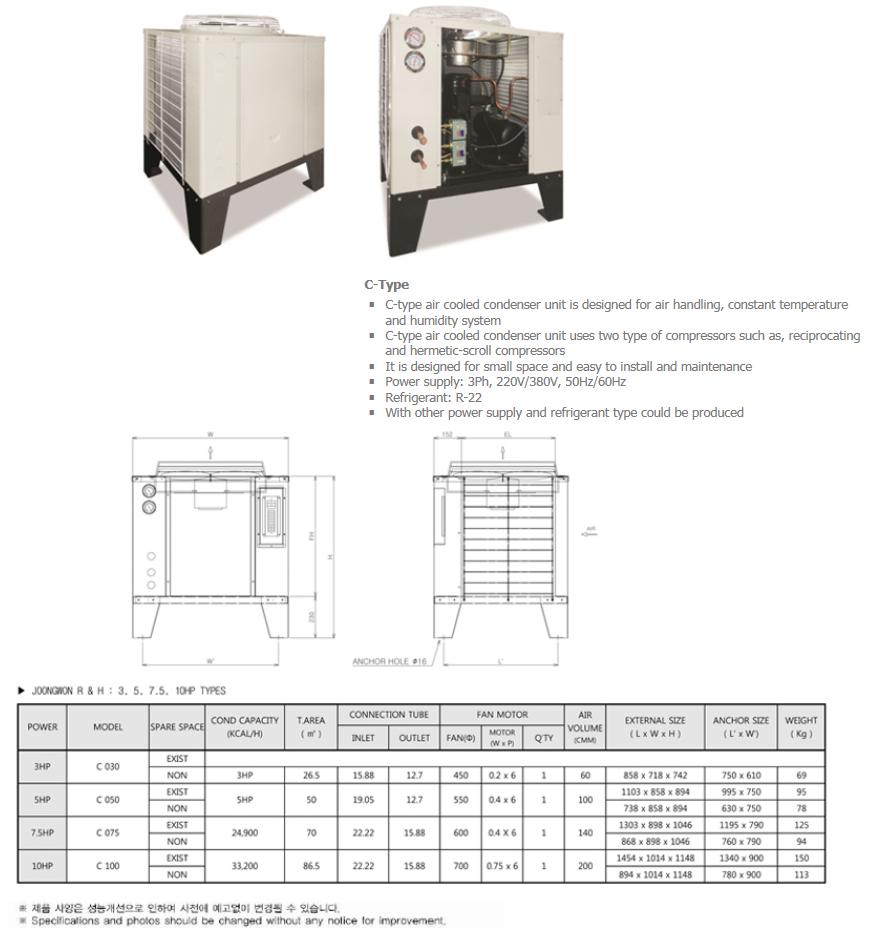 JOONGWONS Remote Condenser C-Type
