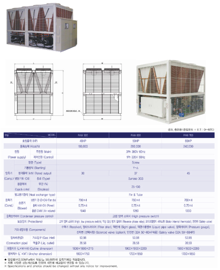 JOONGWONS Air Cooled Condesning Unit Manufacturer PAM-Type