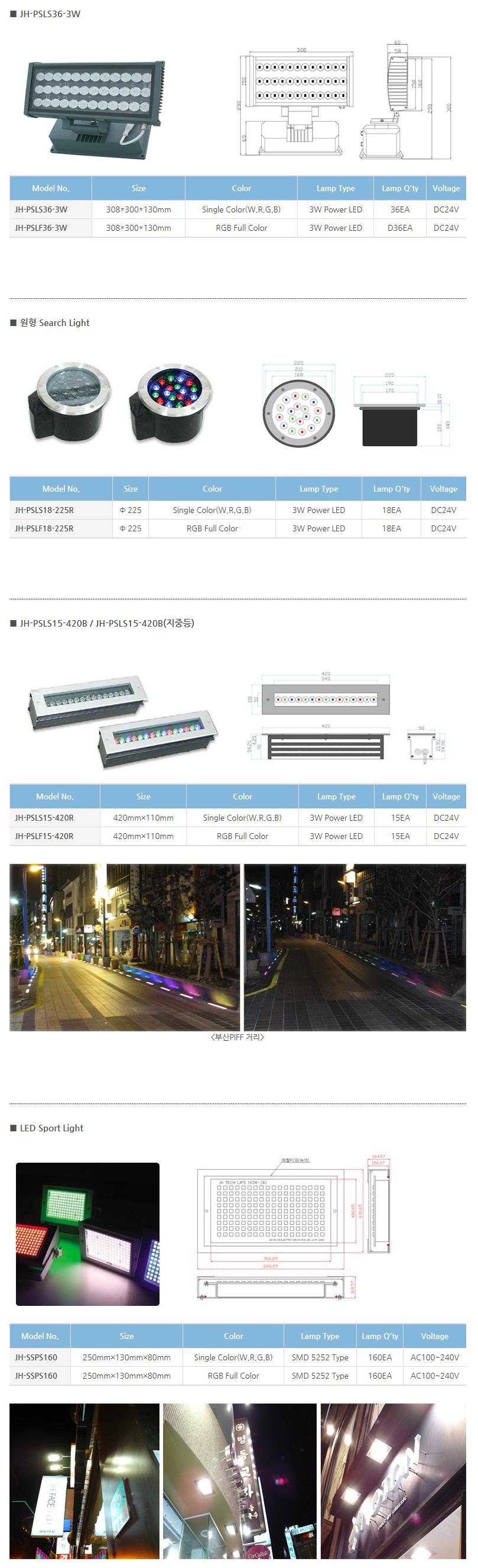 (주)정광테크 LED 특수조명