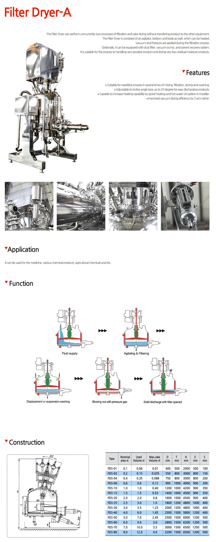 JUNGHYUN PLANT Filter Dryer-A FDS-Series