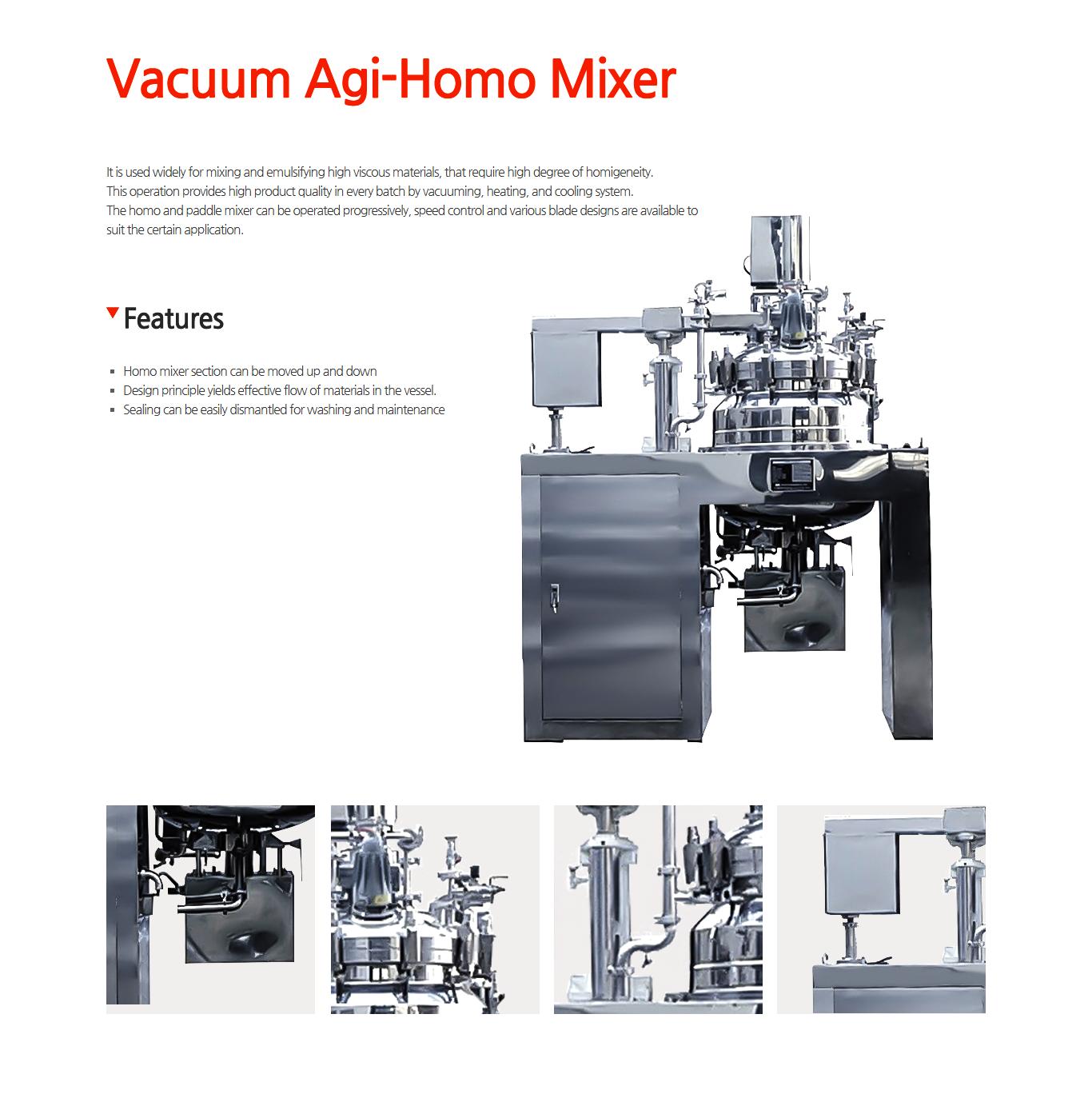 JUNGHYUN PLANT Vacuum Agi-Homo Mixer