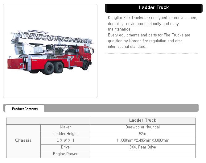 KANGLIM Ladder Truck