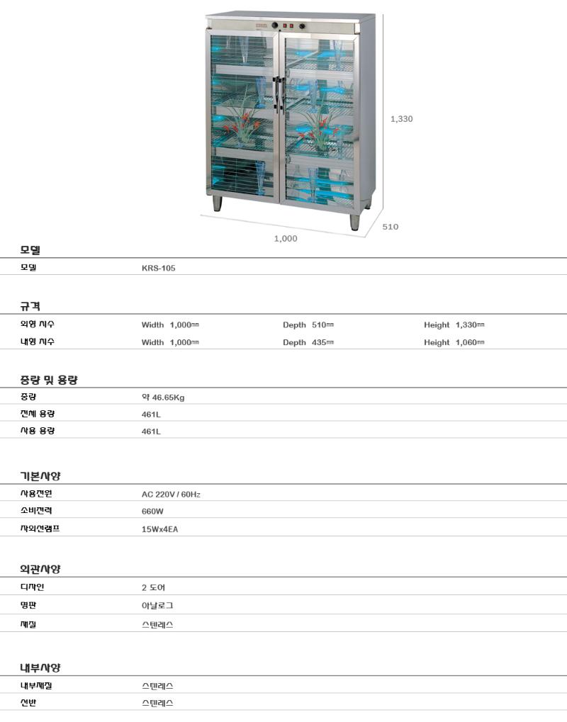 KARIS Dry Heat & U.V Sterilizer KRS-105 2