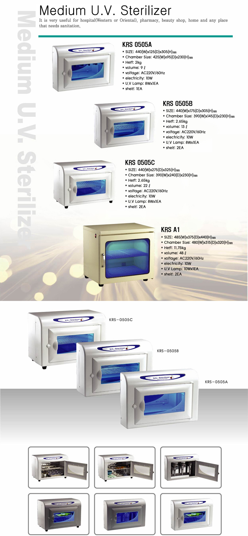 KARIS Medium U.V Sterilizer KRS-0505 A 1