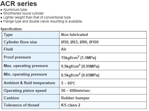 KCCPR Round Cylinder ACR Series