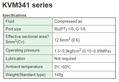KCCPR 3 Port Mechanical Valve KVM341 Series