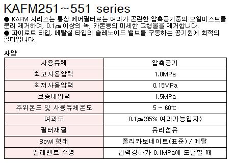케이시시정공(주) 미스트 세퍼레이터 KAFM251~551 Series