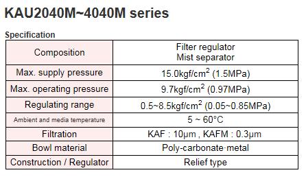 KCCPR Air Line Equipment KAU2040M~4040M Series