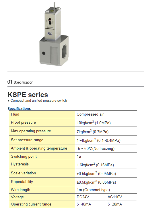 KCCPR Flow & Pressure Switch
