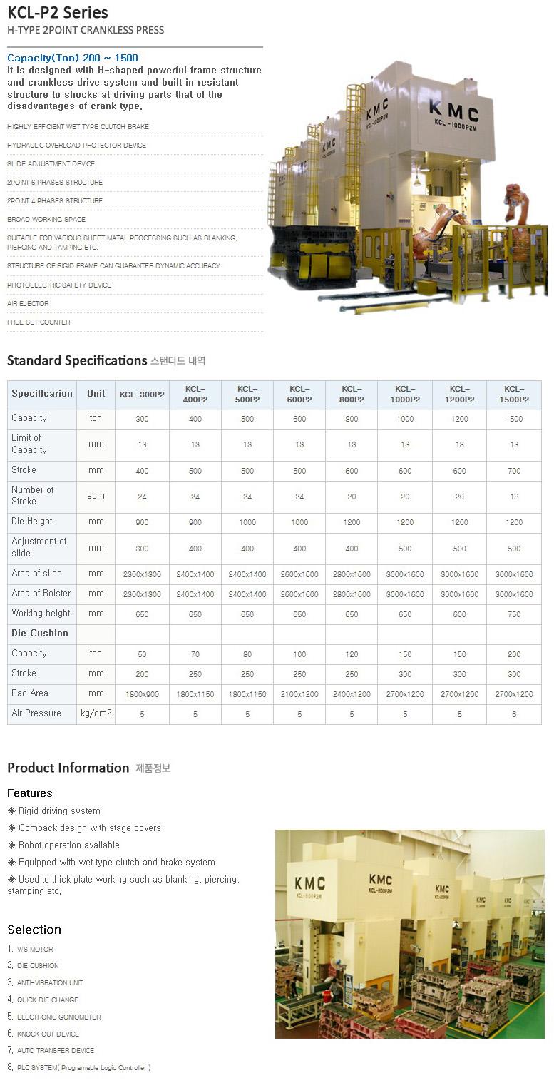 KMC PRESS 2Point Crankless Press KCL-P2-Series