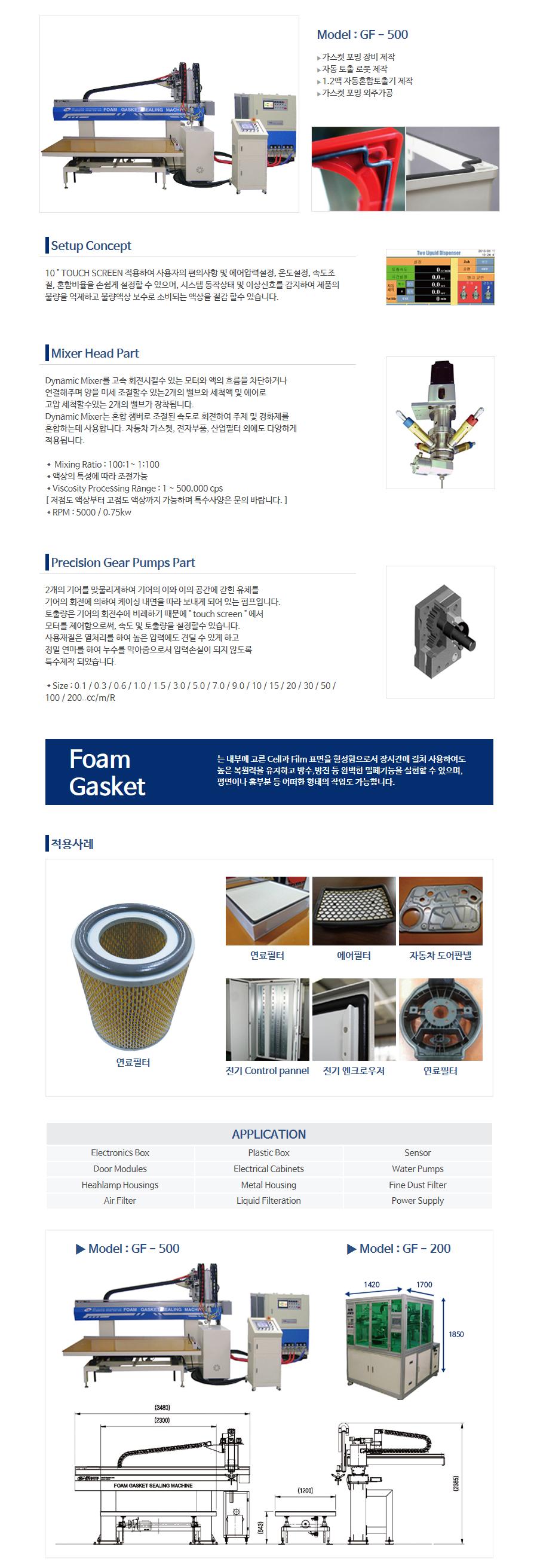 (주)케이엔디시스템 2K Foam Gasket Sealing GF-500/200 1