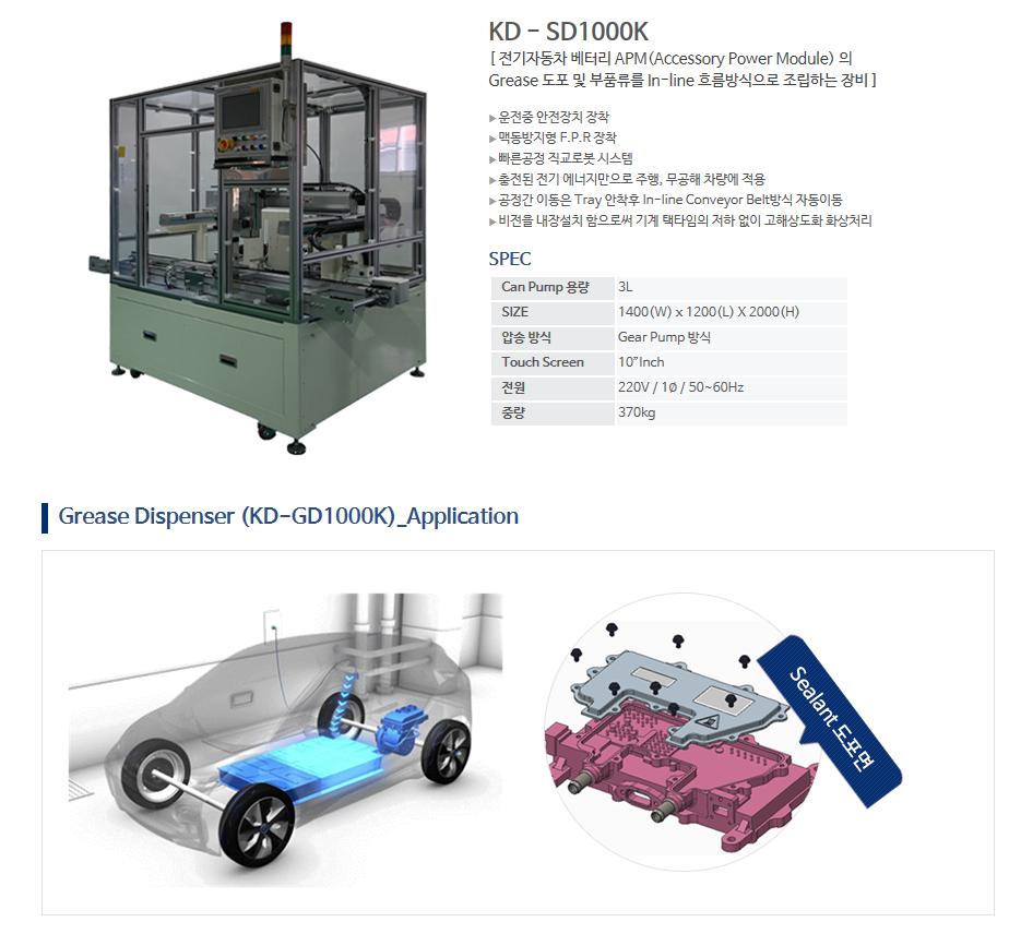 (주)케이엔디시스템 Grease Dispenser KD-SD1000K 1