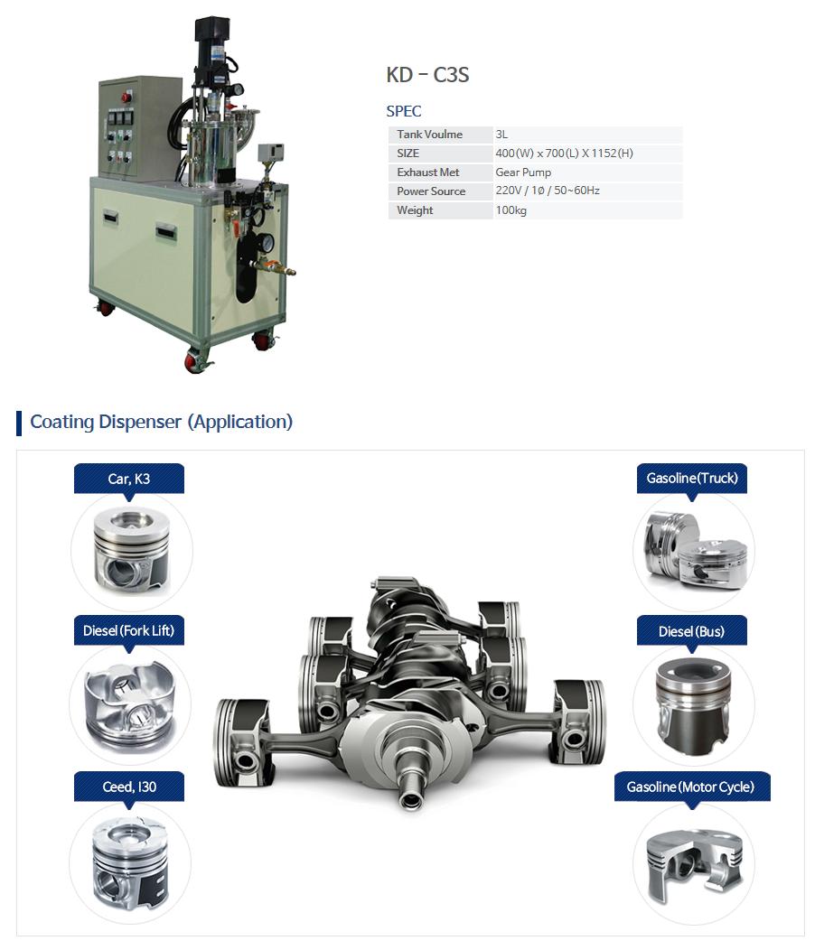 KNDSYSTEM Coating Dispenser KD-C3S