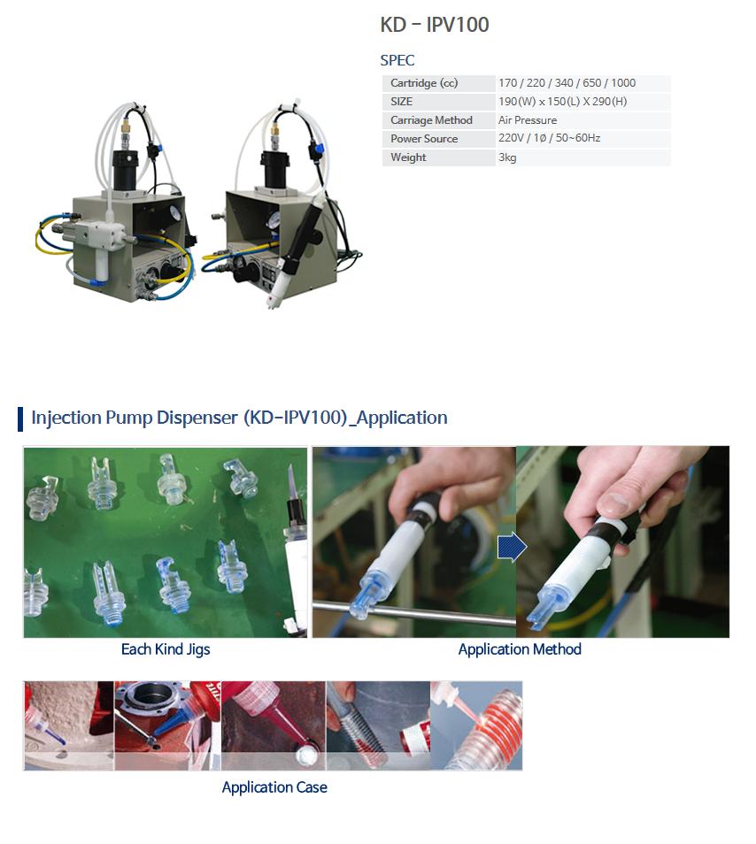 KNDSYSTEM Injection Pump Dispenser KD-IPV100