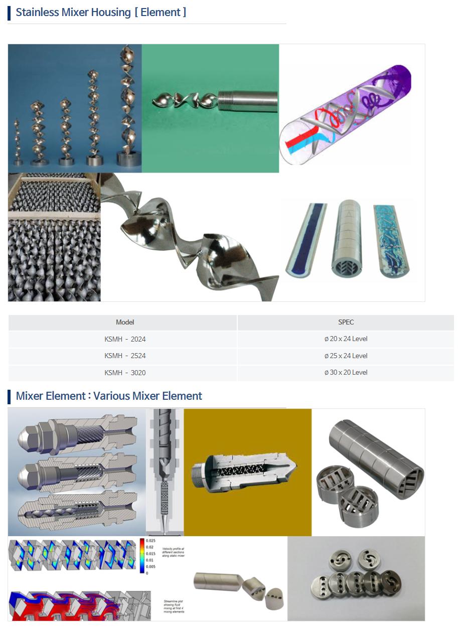 KNDSYSTEM Stainless Mixer Housing (Element) KSMH-Series
