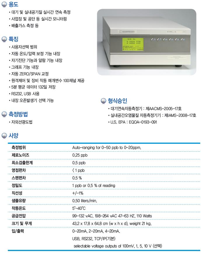 KNJ NOx / SO2 / CO / O3