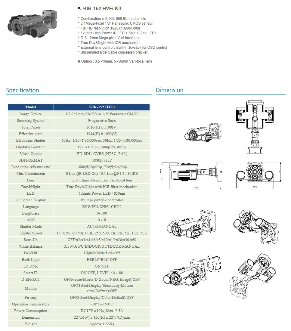 Koditec  KIR-152 HVFi Kit