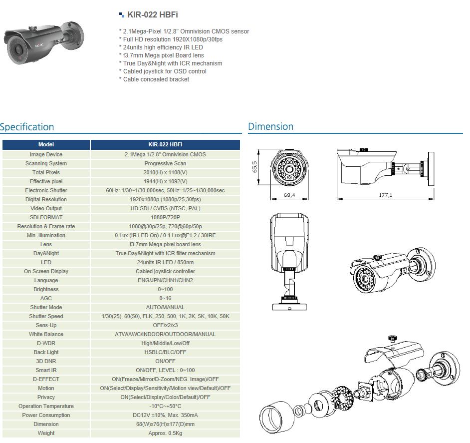 Koditec  KIR-022 HBFi
