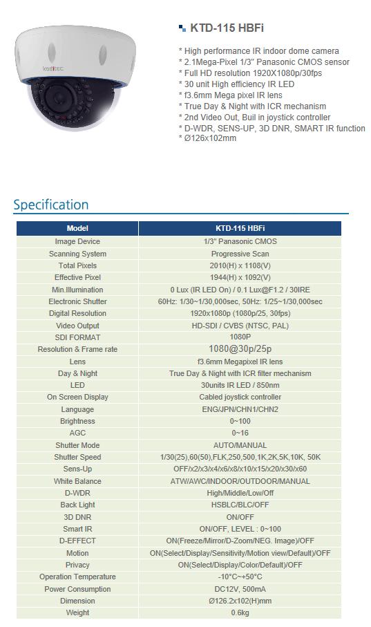 Koditec  KTD-115 HBFi