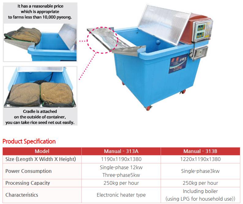 KWANG PUNG Manual Hot Water Sterilizer Manual–313A / Manual–313B