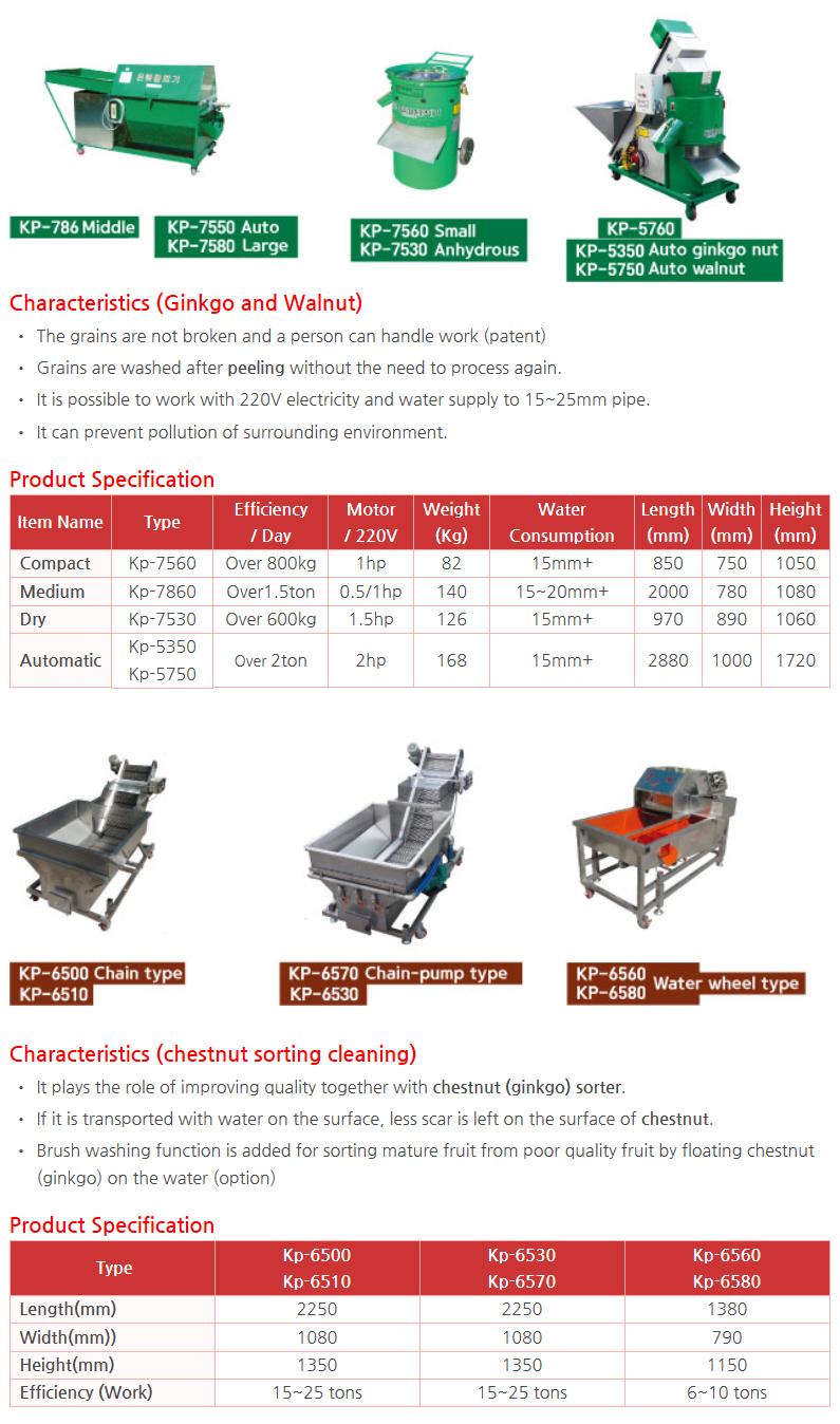 KWANG PUNG Peeling Machine (Peeling and Washing) KP Series