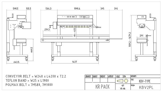 (주)케이알팩 히타2조 중포장용 수직 인자부착형 밴드씰러 KBV2PL 1