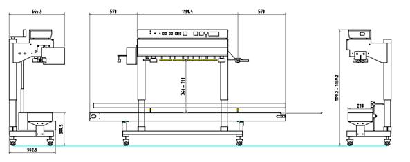 (주)케이알팩 히타2조 대포장용 수직 인자부착형 밴드씰러 KBV2PH18 1