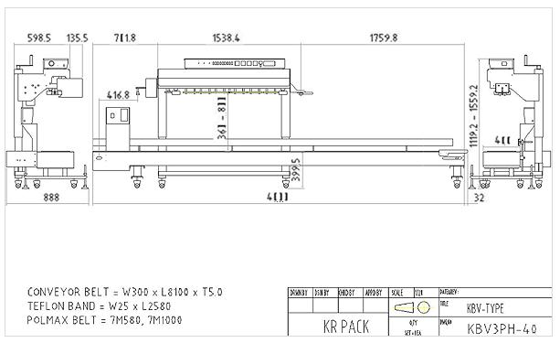 (주)케이알팩 히타3조 초대형 컨베이어 분리형 대포장용 인자부착형 밴드씰러 KBV3PH40/75-E-D 1