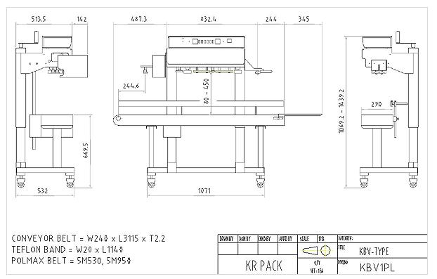 (주)케이알팩 표준 수직 인자부착형 밴드씰러 KBV1PL 1