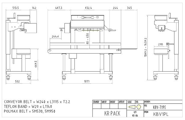 (주)케이알팩 표준 수직 인자부착형 밴드씰러 KBV1PL-S-X 1