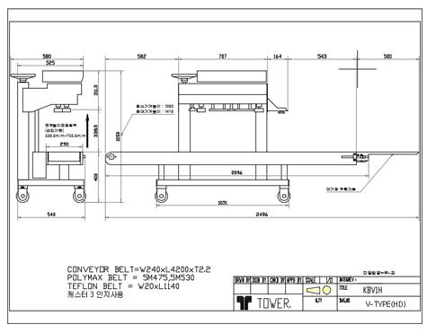 (주)케이알팩 히타1조 중포장용 수직형 밴드씰러 KBV1H9 1