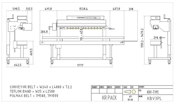 (주)케이알팩 히타3조 중포장용 수직 인자부착형 밴드씰러 KBV3PL 1