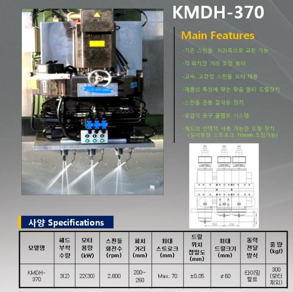 국제이엔지 Multi Drilling Head KMDH-370