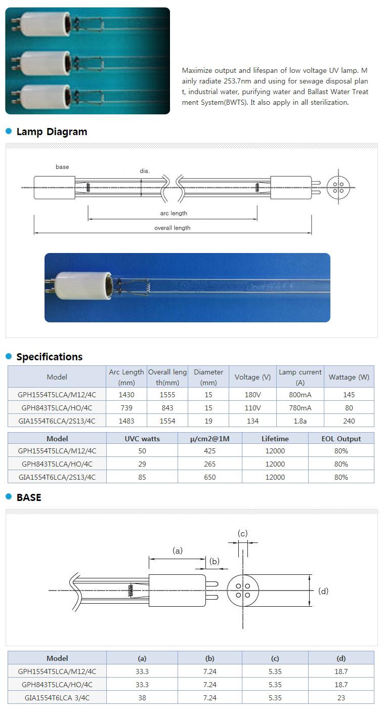 LICHTZEN Germicidal UV Lamp GPH / GIA Series