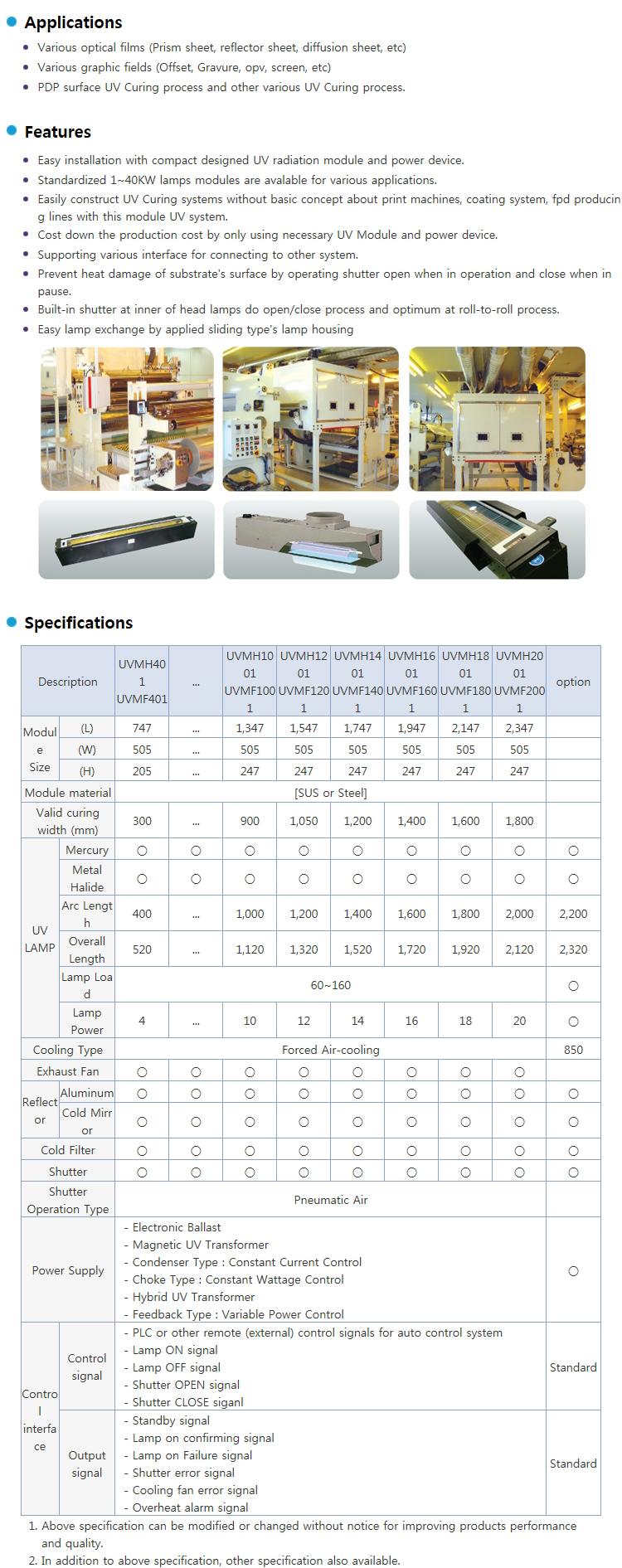 LICHTZEN UV Module System UVMH / UVMF Series