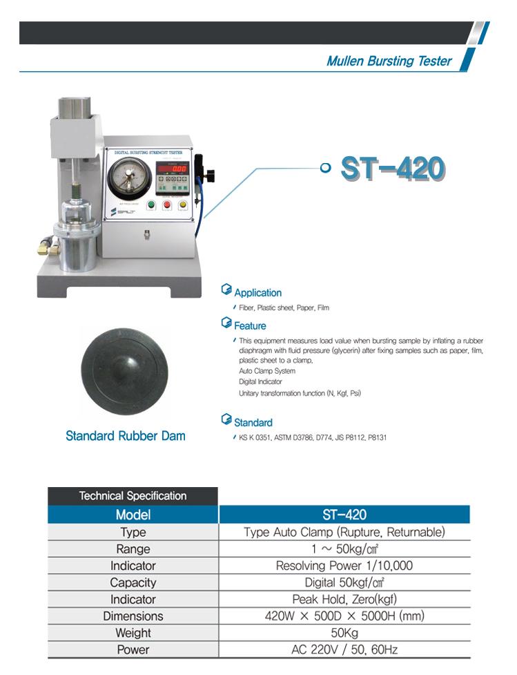 LIGHT-SALT Mullen Bursting Tester ST-420